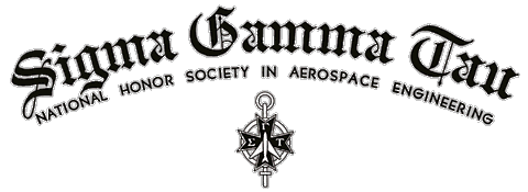 Sigma Gamma Tau - Logo, click to view the Sigma Gamma Tau - National Honor Society in Aerospace Engineering page.