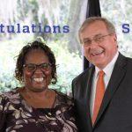 Shirley Robinson and Dr. Fuchs